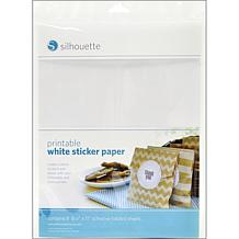 "Silhouette 8.5"" x 11"" Printable White Sticker Paper"