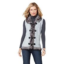 Sporto® Knit and Faux Fur Vest
