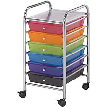 Storage Cart W/6 Drawers - 13X26X15.5 Multicolor