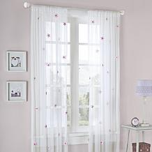 "Taylor 84"" Window Panel - White/Pink"