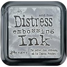 Tim Holtz Distress Ink Stamp Pad - Clear For Embossing