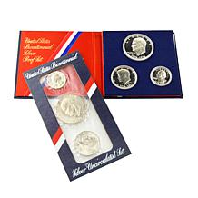 Uncirculated and Proof Secret Silver Bicentennial Set
