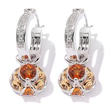 Victoria Wieck .93ct Orange Citrine and Topaz Earrings