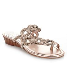 "Vince Camuto ""Inkaa"" Jeweled Demi-Wedge Sandal"