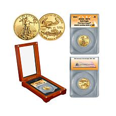 2016 ANACS MS70 FDOI LE of 699 $5 Gold Eagle Coin