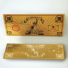 "2016 ""Liberty 10"" 24K Gold Aurum Collectible Note"