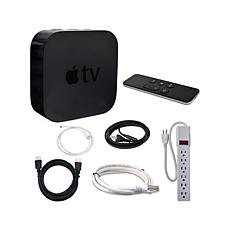 Apple TV® 4th Gen +HDMI/Network Cables, Surge Protector