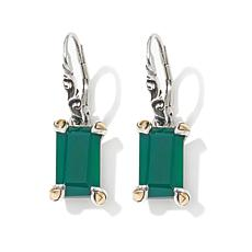 Bali Designs Chalcedony 2-Tone Rectangular Earrings