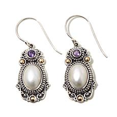 Bali Designs Mabé Pearl and Gemstone Drop Earrings