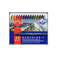 CARAN D'ACHE Water Soluble Wax Pastel Set of 15