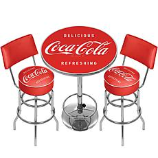 Coca-Cola Gameroom Combo - Table/2 Stools with Backs