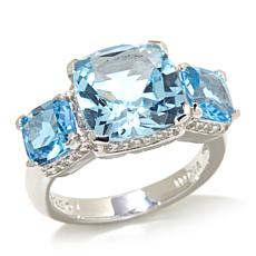 Colleen Lopez Gemstone and White Topaz 3-Stone Ring