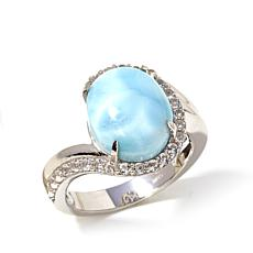 Colleen Lopez Larimar and White Topaz Ring