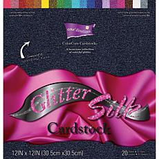 Core'dinations Glitter Silk Cardstock - 12x12 Assorted