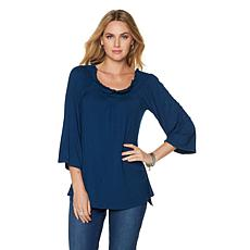 DG2 by Diane Gilman Off-the-Shoulder Tunic Top
