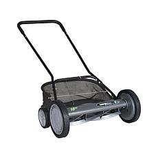 "EARTHWISE 18"" Reel Mower with Removable Grass Catcher"