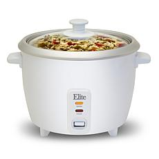 Elite Gourmet 16-Cup Rice Cooker with Steam Tray