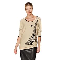 French Rendez Vous Eiffel Tunic Sweater