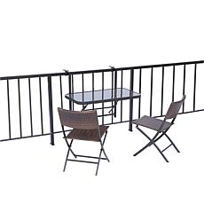 HGTV HOME Folding Balcony/Deck Table with 2 Chairs