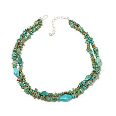 "Jay King 2-Row Turquoise Bead 18"" Necklace"