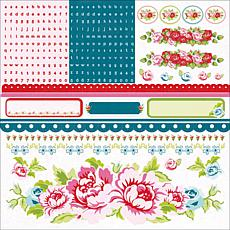 Kaisercraft Miss Nelly Cardstock Stickers 12x12 Sheets