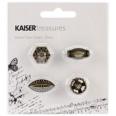 Kaisercraft Treasures Metal Door Knobs 4pk Brass