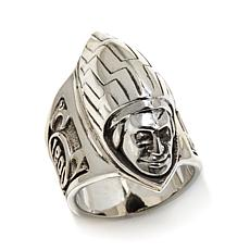 King Baby Sterling Silver Indian Headdress Ring