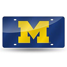 Laser Tag License Plate - University of Michigan (Blue)