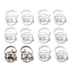 Levears™ Sterling Silver and Plastic Earring Lifts Set