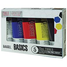 Liquitex 5-pack Basics Acrylic Paint - Assorted Colors