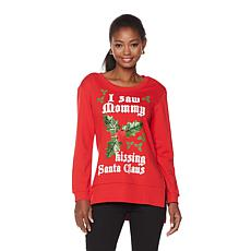 Lyric Culture Mommy Kissing Santa Claus Sweatshirt