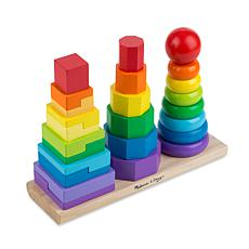 Melissa and Doug Geometric Stacker Set