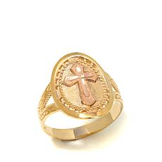 Michael Anthony Jewelry® 10K Cross Medallion Ring
