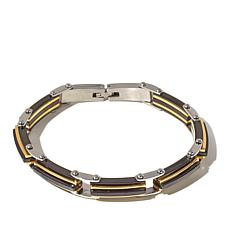 Michael Anthony® Men's Stainless 3-Tone Link Bracelet