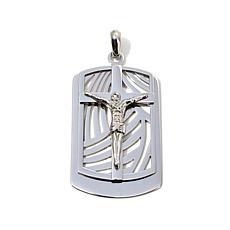 Michael Anthony Stainless Steel Crucifix Dogtag Pendant