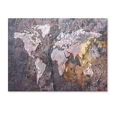 "Michael Tompsett ""World Map - Rock"" Canvas - 24"" x 32"""