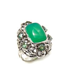 Nicky Butler 1.50ct Apple Green Chalcedony and Gem Ring