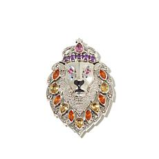 "Nicky Butler Multigem ""Lion"" Pin/Pendant"