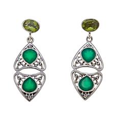 Nicky Butler Peridot & Chalcedony Heart Earrings