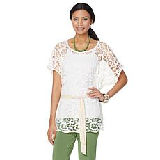 Nikki by Nikki Poulos Crochet Top with Sash