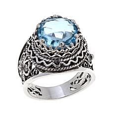 Ottoman Silver Jewelry 4.2ct Sky Blue Topaz Ring