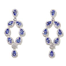 Rarities 7ctw Tanzanite and Gem Chandelier Earrings