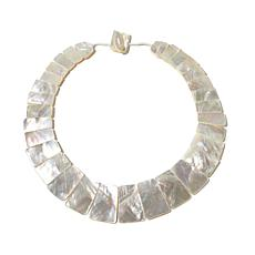 "Rarities Mother-of-Pearl Statement Collar 18"" Necklace"