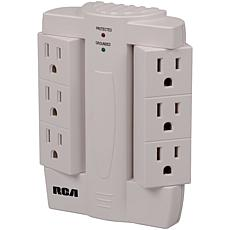 RCA PSWTS6 6-Outlet Surge Protector Wall Tap