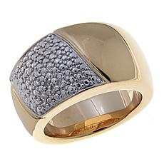 Sevilla Silver™ Asymmetrical Diamond-Accented Band Ring