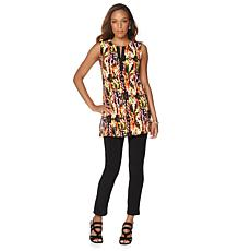 Slinky® Brand Printed Tunic with Solid Pant Set