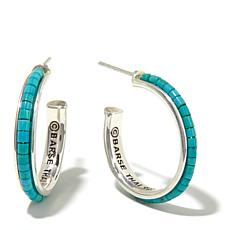 Studio Barse Turquoise Sterling Silver Hoop Earrings