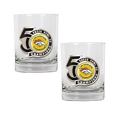 Super Bowl 50 Champions 14 oz. Rocks Glass 2-pack