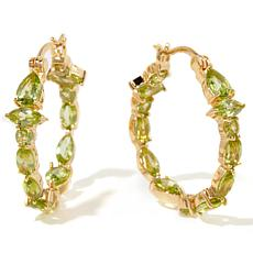 Technibond® Gemstone Inside/Outside Hoop Earrings
