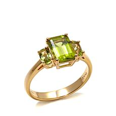 Technibond® Peridot 3-Stone Ring